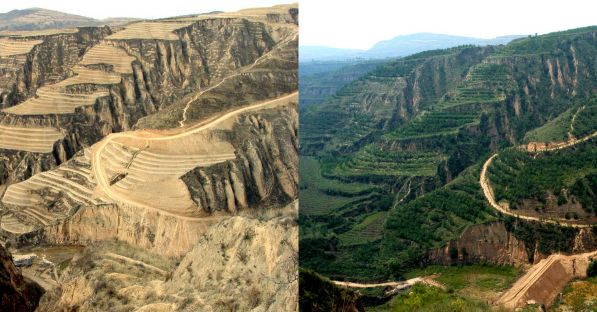 Loess Plateau Restoration Before And After